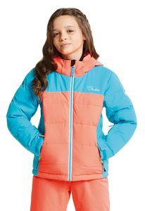 dare2b Kinder Ski Jacke Skijacke IMPROV JACKET fiery coral / aqua blue, Größe:152