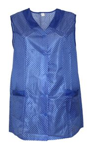 7/8 Kasack Kittel kurz Schürze Dederon Polyester, Farbe:blau, Größe:56