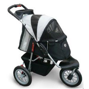 InnoPet® Hundebuggy Comfort EFA Pet Stroller Hundewagen Hunde Tragetasche Nylon black/silver