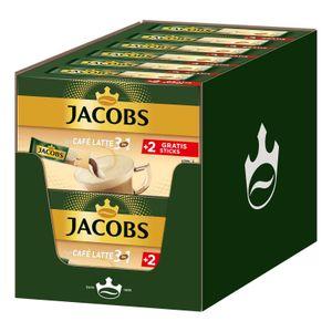 JACOBS Löskaffee 3in1 Typ Café Latte löslicher Kaffee 12 x 10+2 Sticks Instant