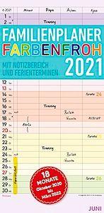 Familienkalender Farbenfroh 2021
