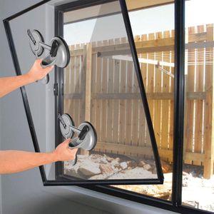 2x Alu Glasheber bis 150 KG Glasheber für glatte Oberflächen Saugheber Gummisauger