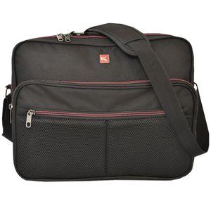 XXL Damen Herren Messenger Bag von KEANU :: 2 x DIN A4 Hauptfächer 2 x Vordertaschen - 12 Liter :: KAMPEN Reporter Business Arbeits-Tasche Flugumhänger Umhängetasche