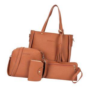 Vierteiliger Anzug Mit Fransen Für Die Handtasche Brown 25x26x8cm Braun Tasche Solide Korea Stil