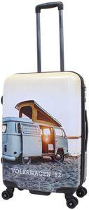 Print Bulli T2 Camper Bus Reise Koffer Trolley 4 Rollen 67 cm medium bei Bowatex