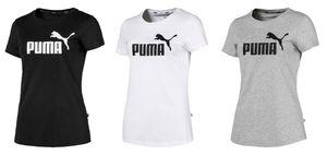 PUMA ESS Logo Damen T-Shirt Weiss, Größe:XXL