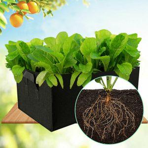 Schwarz Größe L Rechteckig Pflanzsack Pflanzbeutel Smart Grow Bag Pot Gardening Pflanztasche Pflanzsäcke für Kartoffel Blumen Pflanze