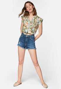 Mavi YOUNG FASHION Damen SLEEVELESS SHIRT Damen Bluse Hemd Freizeit Business lichen hawaii printed M