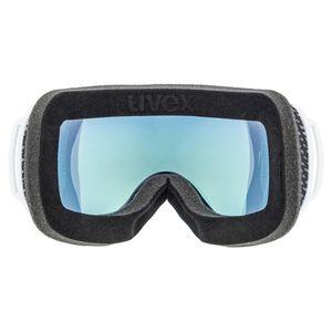 Uvex Downhill 2000FM - Rahmenlose Skibrille, Farbe:schwarz/schwarz