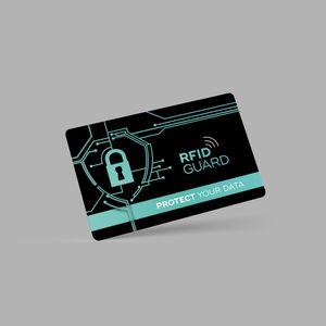 4x NFC RFID Karte - RFID & NFC Schutz / RFID Blocker Karte für EC & Kreditkarten