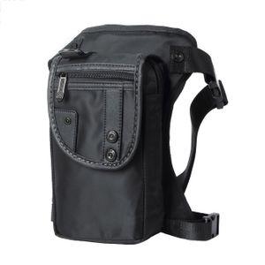 Robuste & Wasserdichte Outdoor Hüfttasche / Beintasche / Gürteltasche (Schwarz)