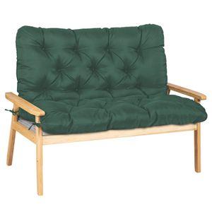 Gartenbankauflage Bankauflage Bankkissen Sitzkissen Polsterauflage Sitzpolster 100x100x10cm-Dunkelgrün