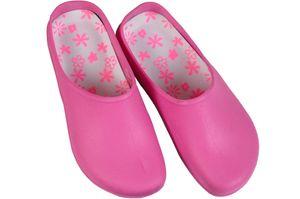 Gartenclogs Gartenschuhe Latschen pink, schwarz, blau, hellblau Clogs 37 bis 46, Farbe:pink, Schuhgröße:37 / 38