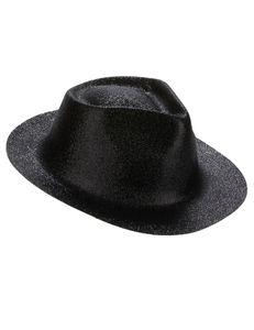 Glitzer Party-Hut schwarz