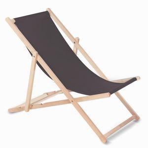 Liegestuhl aus Buchholz ohne Armlehne  Sonnenliege Gartenliege 110kg dunkelbraun