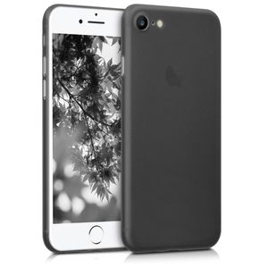 kwmobile Hülle kompatibel mit Apple iPhone 7 / 8 / SE (2020) - Slim Handy Schutzhülle - Cover Case Handyhülle Schwarz