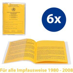 mumbi 6x Impfpass Hülle Schutzhülle Impfpasshülle für ALTEN Impfausweis Schutz Tasche, transparent (1980-2008)