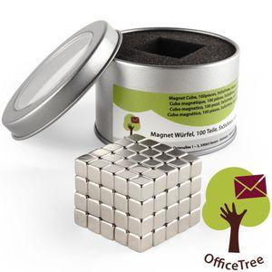 OfficeTree® 100 Mini Neodym-Magnet-Würfel 5x5x5 mm - extra-stark für Whiteboard Magnet-Tafel Pinnwan