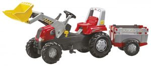 rolly toys Junior RT Trettraktor rot FarmTrailer , Maße: 210x53x62 cm; 81 139 7