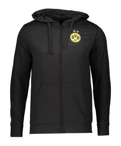 Fan-Shop BVB Borussia Dortmund Sweatjacke Schwarz - Uni - Kinder, Größe:164