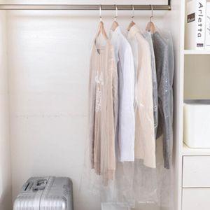 10er Pack Transparente Kleidersäcke Kleiderhüllen Kleidung Schutzhüllen Größe 60x100cm