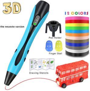 3D Stift 3D Drucker Stift DIY Scribbler Stereoskopisch Drucker 3D Stereoscopic Printing Pen mit LCD als kreatives Geschenk für Erwachsene Jung und Alt Kid Geschenk