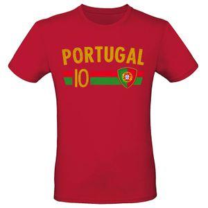 EM Fan Shirt Deutschland Europameisterschaft 100% Baumwolle T-Shirt Rundhals Fanartikel Alle Größen Herren Damen Fan-Shirt , Größe wählen:3XL, Land wählen:Portugal