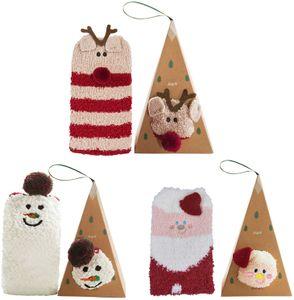 Weihnachtssocken, Weihnachten socken Damen Weihnachtsmann Schneemann plüsch socken Weihnachtssocken Geschenk Thermal Socken
