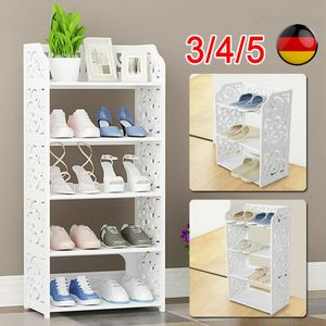 Schuhschrank,Schuhablage Schuhregal Schuhständer Schuhaufbewahrung (3/4/5 Schicht Optional ),Holz Schuhschrank ,weiß,4 Schicht