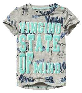 VINGINO Rundhals-Shirt cooles Kinder T-Shirt mit auffallendem Graffiti Aufdruck Grau, Größe:50/56