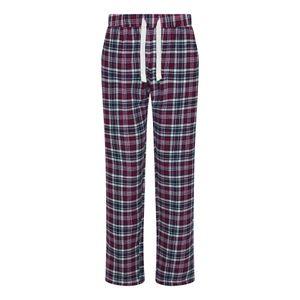Comfy Co Damen Gals Flanell Hose RW6225 (XS) (Marineblau/Pink)