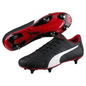 Puma fußballschuhe ClassicoHerren Leder schwarz/weiß/rot Größe 46
