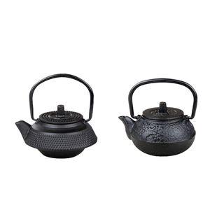 2 Stücke 50 Ml Mini Japanischen Stil Gusseisen Wasserkocher Tetsubin Teekanne