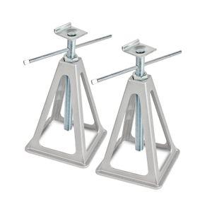 Alu Stützbock 2er Set | L-Profil | 1000Kg Tragkraft | 42cm Höhe | L-Aufnahme
