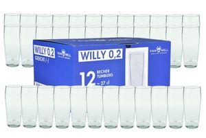 36er Set Bierglas Willibecher 0,2L geeicht Biergläser Tumbler perfekt geeignet für Gastronomie