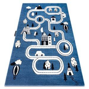 Kinderteppich PETIT TOWN STADT STRAßEN blau Blau 240x330 cm