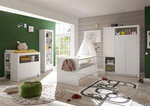 Paula Babyzimmer Komplettset Set Weiß