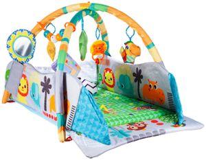 MalPlay Spielzeugboard 86x55cm   3 IN 1 : Kugelbad, Laufstalls und Spieldecke für Babys mit weichem Spielbogen  Lernspielzeug für Jungen und Mädchen Kleinkind ab 6 Monaten