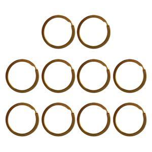 10er-set Messing Schlüsselring Rundring, Key Chain Rings, Durchmesser : 28mm Gold