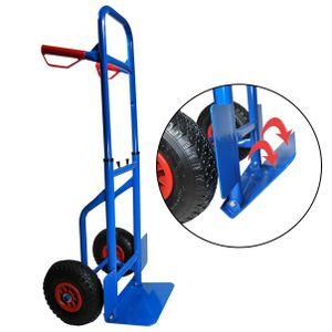 Sackkarre Transportkarre höhenverstellbar klappbar Stapelkarre Karre 200 kg blau