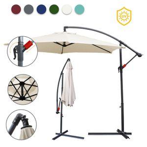 EINFEBEN 3.5m Sonnenschirm Ampelschirm Balkonschirm Marktschirm UV40+ Gartenschirm,Beige
