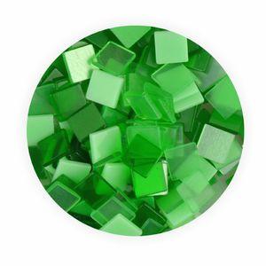 Creleo - Mosaiksteine 10x10mm grün 190 Stück 45 g