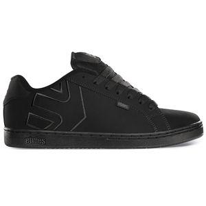 Etnies - Fader Sneaker Herren Skate Black/Black/Black Dirty Wash Skateschuh Größe 40 (US 7,5)