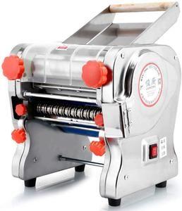 750W Elektrische Nudelmaschine Edelstahl-Nudelwalzenmaschine (Nudelbreite 22CM,Messerlänge 180cm,Nudelbreite 2mm / 6mm)