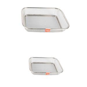 1Set Sieb Edelstahl Abtropfsieb Siebschüssel Seiher für Gemüse Früchte Reinigung Waschen
