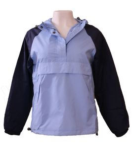 AJC Windbreaker praktische Damen Frühlings-Jacke mit Stehkragen Blau, Größe:32