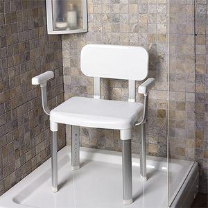 Duschstuhl - Badewannenstuhl mit Arm- und Rückenlehne Badhocker Duschhocker Badestuhl Duschhilfe Badhilfe Bad Hocker Stuhl