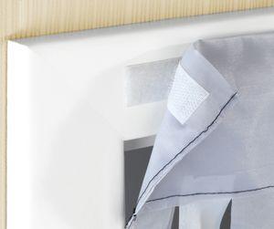 Türvorhang Fliegenvorhang Dekovorhang grau-weiß
