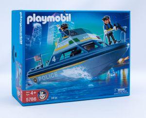 PLAYMOBIL 5786 Polizei Schnellboot US Boot mit Figuren