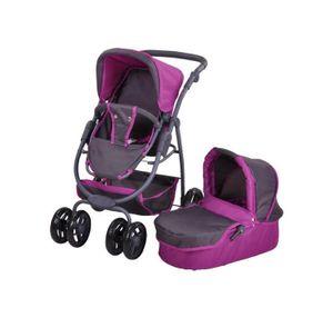Kombi-Puppenwagen Coco, tec purple